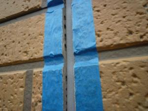 バックアップ材挿入完了|雨漏り対策~外壁の修理