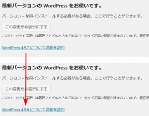 WordPressのアップデート後の確認|パッケージのアップデート(1)