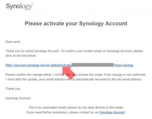 メールアドレス追加の確認|Synologyのアカウントの登録