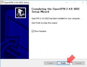 OpenVPNインストール終了|VPN Serverを使う