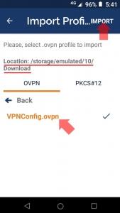 プロファイルのインポート(Android)|VPN Serverを使う
