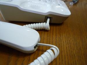 受話器をつなぐ|コードレス電話機VE-GD25DL