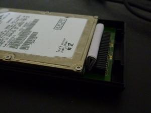 隙間の詰め物|名もなきUSB3ハードディスクケースを買った件