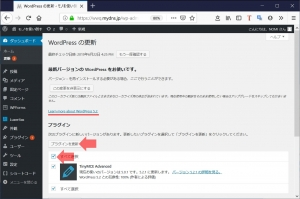 プラグインのアップデート WordPressの4から5へのアップデート