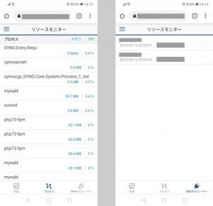 リソースモニター(2)|DSM mobileを使う~DiskStation DS218j