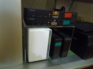 設置場所|たまにはDS218jを掃除しましょう~DiskStation DS218j