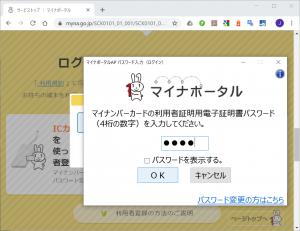 暗証番号入力|マイナポータルの利用設定(Google Chrome編)