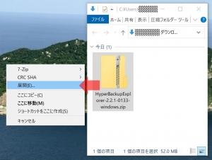ZIPを展開|Synology Hyper Backup Explorerを使う~DiskStation DS218j