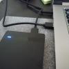 USBハードディスクをパソコンに接続